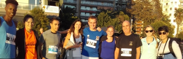 Students of the European Master Program & Professor Yannis Theodorakis at the Half Marathon Night Run! Congrats!